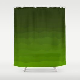 Dark Rich Forest Green Ombre Shower Curtain