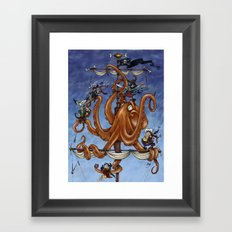 The Octo-Pirate! Framed Art Print