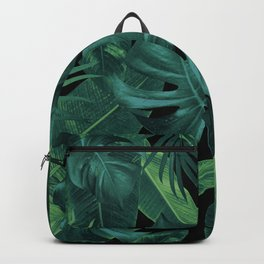 Tropical Summer Night Jungle Leaves Dream #1 #tropical #decor #art #society6 Backpack