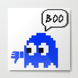 8 BIT GHOST OF DISAPPROVAL Metal Print