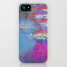 Water Lillies - Claude Monet (plastic pink) iPhone Case