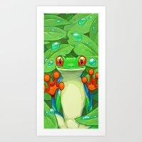 Frankie the Frog Art Print
