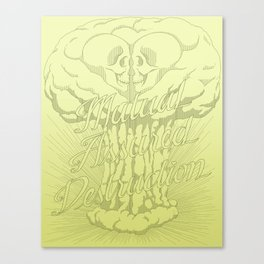 M.A.D. (green) Canvas Print