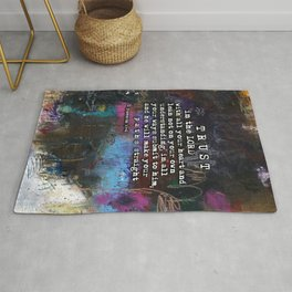 Proverbs 3:5-6  Christian Inspired Bible Verse Scripture Art by Michel Keck Rug