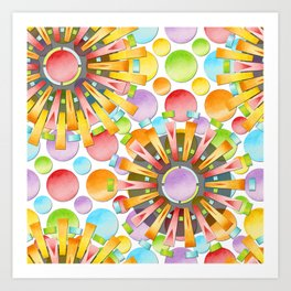 Birthday Party Polka Dots Art Print