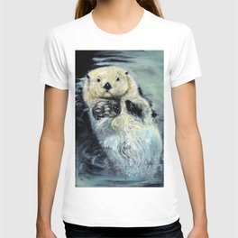 Sea otter painting T-shirt