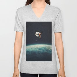 Returning to Earth with a will to Change Unisex V-Neck