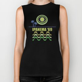 Ipanema Beach Modern Vintage/Retro original design Biker Tank