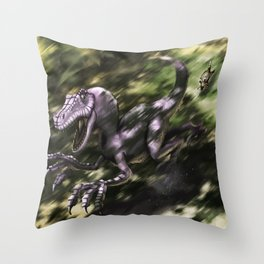 Brave Lizard Throw Pillow