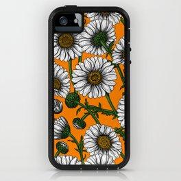 Daisies on orange iPhone Case