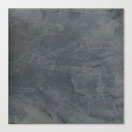 Slate Gray Stucco - Faux Finishes - Rustic Glam - Corbin Henry Venetian Plaster Canvas Print