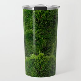 Moss - Green Luscious Mossy Texture - Full on Natural Moss Mounds- Earthy Greens -Turning Moss Green Travel Mug