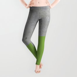 Concrete and Greenery Color Leggings