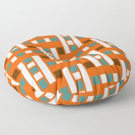 Cross Stitch Quilt Latter Design Chutes Weave Floor Pillow