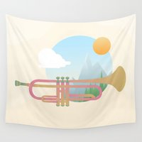trumpet Wall Tapestries featuring Summer Ballad by Moremo