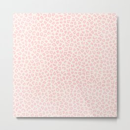 Modern ivory blush pink girly cheetah animal print pattern Metal Print