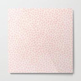 Modern ivory blush pink girly cheetah animal print pattern Metal Print