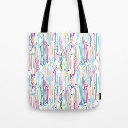 Rainbow Doodle & Dot Tote Bag