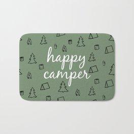Happy Camper in Fern Green Bath Mat