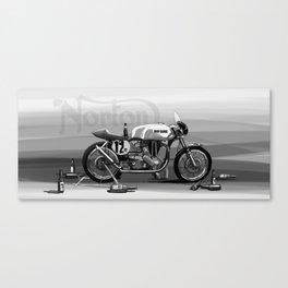 Beer Savage Vintage Norton Cafe Racer Canvas Print