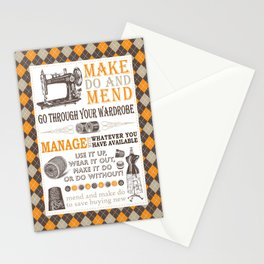 Make Do and Mend | Thrifty Fashion | WWII British Ministry of Information | Stationery Cards