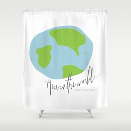 Here is the World Shower Curtain