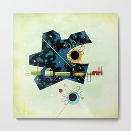 Retro Atomic factory cosmic splender Metal Print