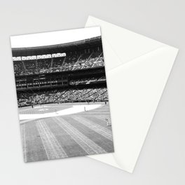 Safeco Field in Seattle Washington - Mariners baseball stadium in black and white Stationery Cards