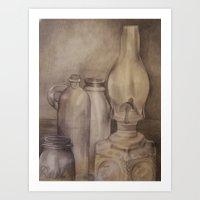 Glass Memories Art Print