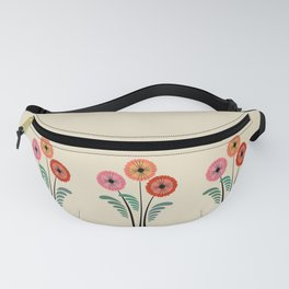 Retro flowers Fanny Pack