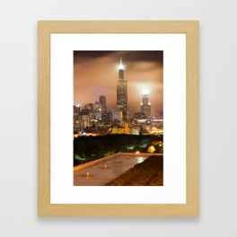 Chicago Skyline from the Rooftop Framed Art Print