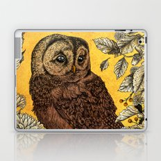 Tawny Owl Yellow Laptop & iPad Skin