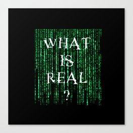 What is real? Canvas Print