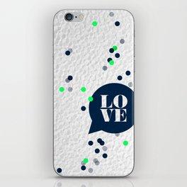 LoveConfetti iPhone Skin