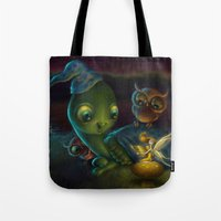 fairy tale Tote Bags featuring Fairy Tale by Alicia Templin