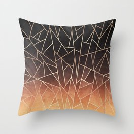 Shattered Ombre Throw Pillow