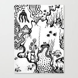b & w the sea 07 Canvas Print