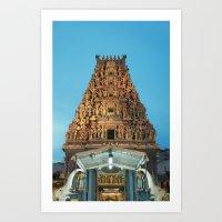 hindu Art Prints featuring HINDU TEMPLE by JChrst