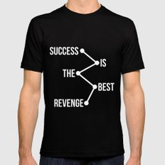 Success is the Best Revenge Light Black MEDIUM Mens Fitted Tee