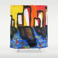 depression Shower Curtains featuring Depression Begins by Greg Mason Burns