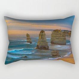 Sunset Coastline Ocean Sea Great Ocean Road Australia Victoria Limestone Stacks 12 Apostles The Twelve Apostles Rectangular Pillow