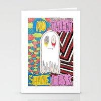 shameless Stationery Cards featuring notalent//shameless -together- by Elvis Vazquez