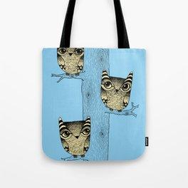 Owls (blue) Tote Bag