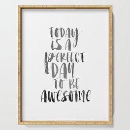 PRINTABLE Art,Be Awesome,Bedroom Decor,Perfect Day To Be Awesome,Inspirational Quote,Motivational Po Serving Tray