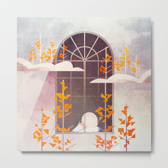 Outside The Window Metal Print