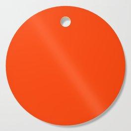 Bright Fluorescent Neon Orange Cutting Board
