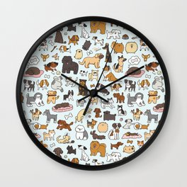 Doggy Doodle Wall Clock