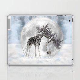 Giraffe Moon Dreaming Laptop & iPad Skin