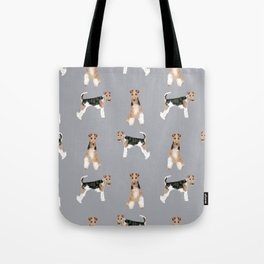 Wire Fox Terrier dog breed pure breed dog lover gifts Tote Bag