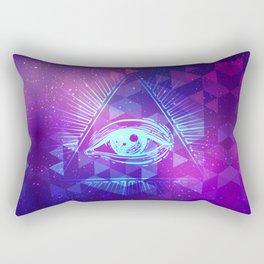 Eye of Providence. Alchemy, religion, spirituality, occultism. Rectangular Pillow